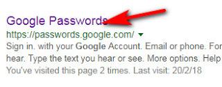Google Chrome Password
