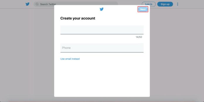 ट्विटर पर अकाउंट