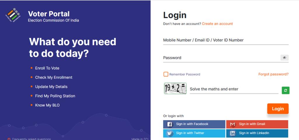 Voter ID Card  login