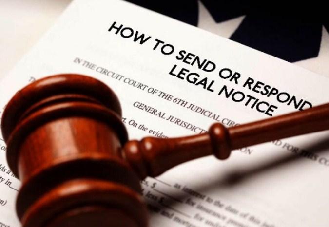 Legal Notice क्या होता है