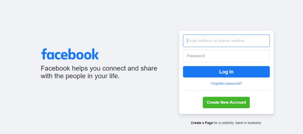 New Facebook Account