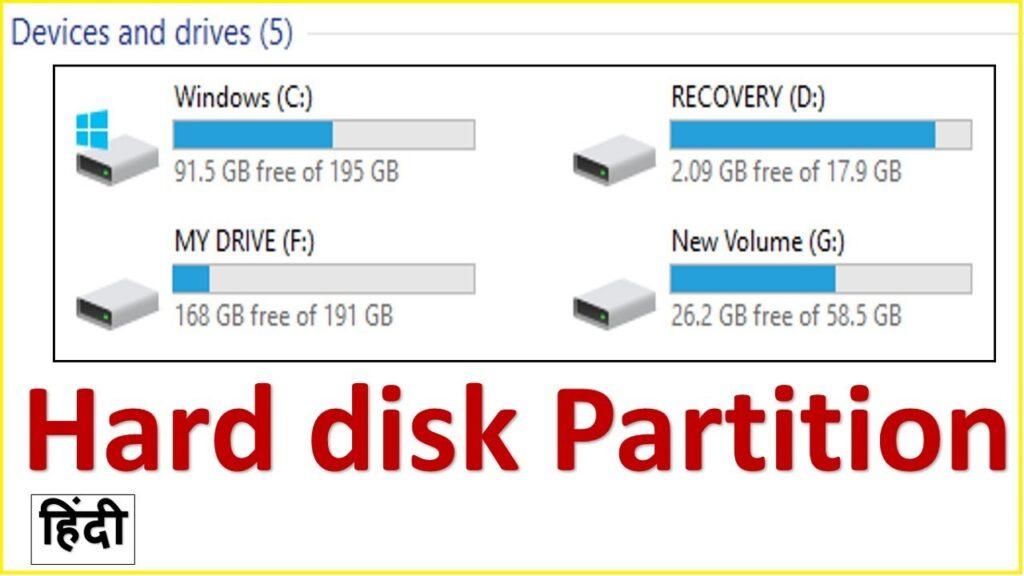 हार्ड डिस्क पार्टीशन क्या होता है