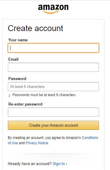 Create Your Amazon Account