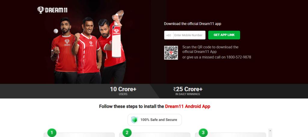 Dream11 App में रजिस्ट्रेशन