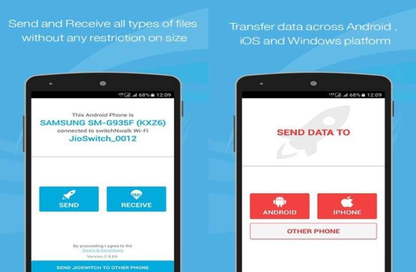 Reliance to Reliance Internet Data Transfer