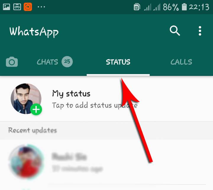 व्हाट्सएप स्टेटस को डिलीट