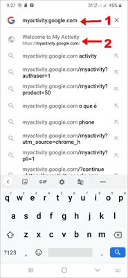 Google Search History डिलीट